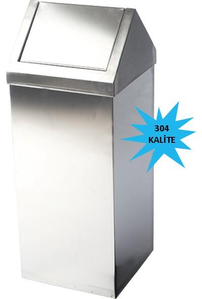 Bauboss Sallanır Çatı Kapaklı Çöp Kovası 54lt. (304 Kalite)