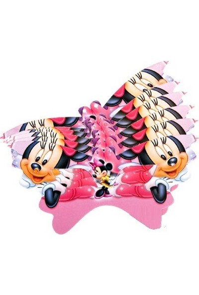 Partypark Minnie Mouse Maske (8 Adet)