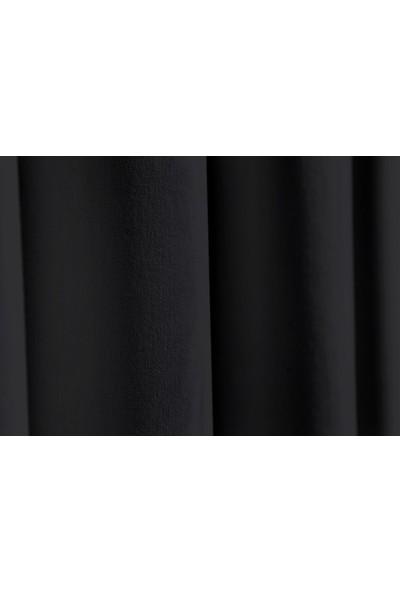 Apolena Dekoratif Fon Perde 140 X 270 Cm 708-Z757/1 Siyah