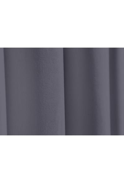 Apolena Dekoratif Fon Perde 140 X 270 Cm 708-Z756/1 Koyu Gri