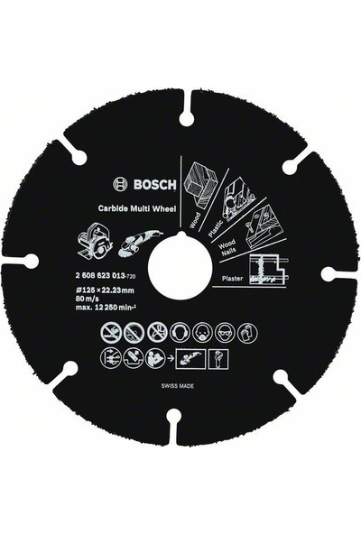 Bosch Carbide Multi Wheel 125 Mm 2608623013