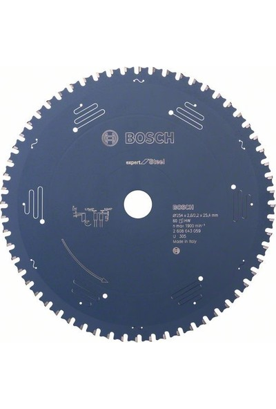 Bosch Expert For Steel 254 x 25,40 Mm 60 Diş 2608643059