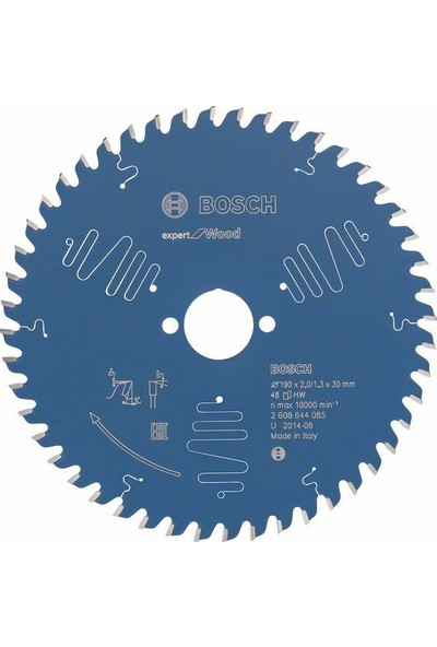 Bosch Expert For Wood 190 x 30 Mm 48 Diş 2608644085