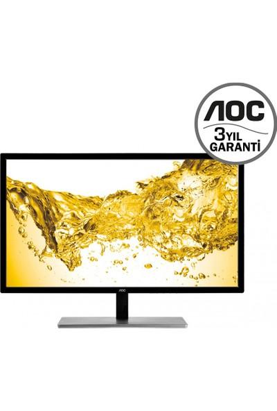 """AOC U2879VF 28"""" 60 Hz 1ms (Analog+DVI-D+MHL/HDMI+Display) 4K FreeSync UHD Monitörü"""