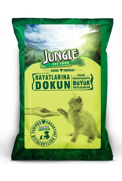 Jungle Sokak Kedileri için Sevgi Maması 100 gr 32'li