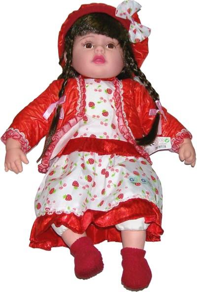 Güzgülü Gerçek Yüzlü 55 cm Elbiseli Bebek - 2996