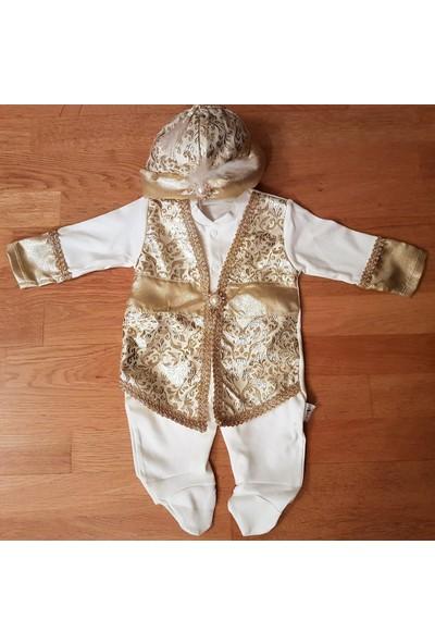 KidsTrend Erkek Bebek Mevlüt Takımı Şehzade Padişah 0 - 3 Ay / 3 - 6 Ay Kına Sünnet Doğum Hediyesi