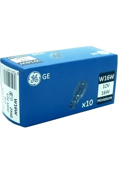 General Electric W16W 12V 16W Ampul 10'Lu Paket A