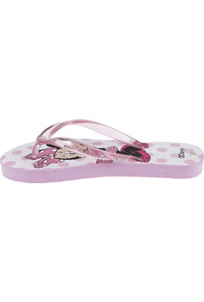 Soobe Disney Minnie Mouse Kız Çocuk Parmak Arası Terlik Pembe