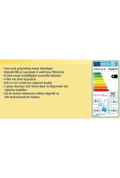 Profilo Psu6B110 Toz Torbalı Elektrikli Süpürge