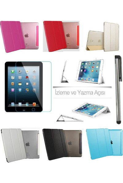 Deni iPad Mini 1/2/3 (1.2.3. Nesil) Smart Case Tablet Kılıf + Film + Kalem
