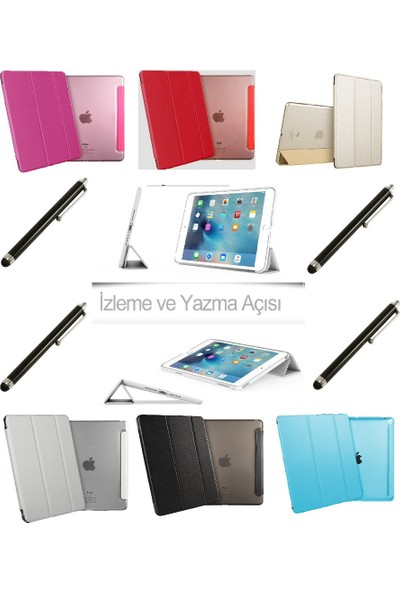Deni iPad Air 1 (1.Nesil) Smart Case Tablet Kılıf + Kalem