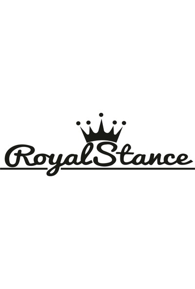 Stickermarket Royal Stance Sticker Beyaz Renk