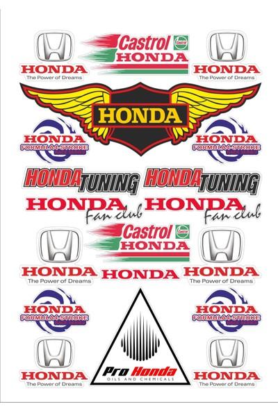 Stickermarket Honda Sticker Seti