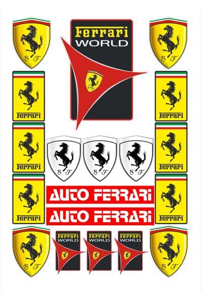 Stickermarket Ferrari Sticker Seti