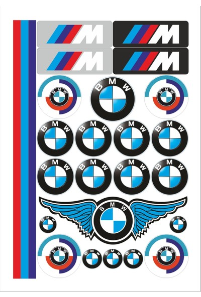 Stickermarket BMW Sticker Seti
