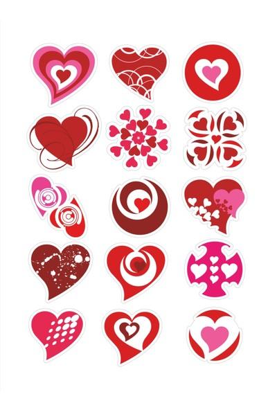 Stickermarket Kalp Sticker Seti
