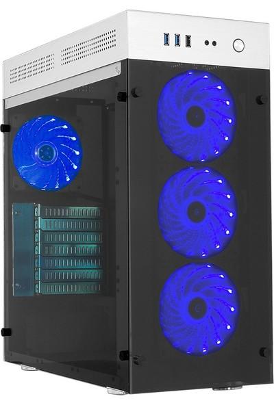 Gamemax FC-9230G RGB fanlar için uzaktan Kumanda, Şeffaf Pencereli Oyuncu Kasa (Powersiz)