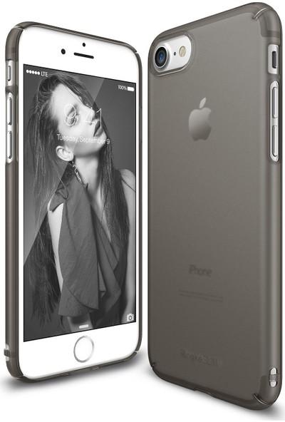 Ringke Slim Frost iPhone 7 Kılıf Black - 4 Tarafı Saran Tam Koruma İnce Buzlu Şeffaf