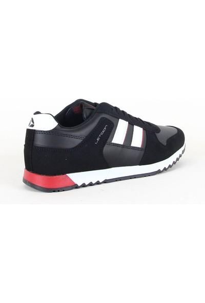 Letoon 3010 Erkek Koşu Yürüyüş Spor Ayakkabı Siyah