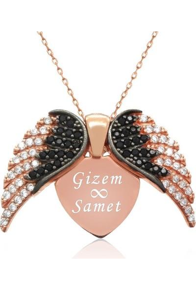 İndigo Takı Aşkın Kanatları İsimli Gümüş Kolye