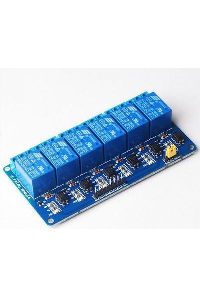 """Güvenrob Röle Kartı 6""""lı 5V - 6 Way 5v Relay Module"""