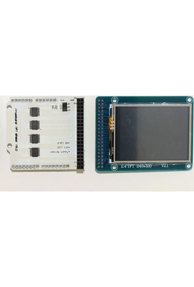 Güvenrob Tft Lcd 2.4inch + Adapter Arduino UNO Uyumlu
