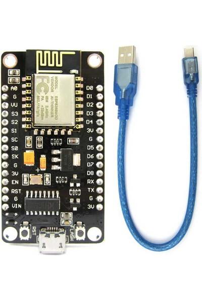 Güvenrob Nodemcu Lua (Lolin) Wifi Esp8266 V3 Geliştirme Kartı + Kablo