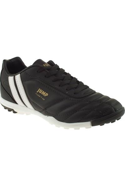Jump 13258 Bağlı Halı Saha Siyah Erkek Halı Saha Ayakkabısı