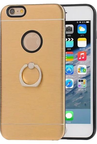 Akıllıphone Apple iPhone 7 Selfie Yüzüklü Arkası Metal Silikon Kılıf