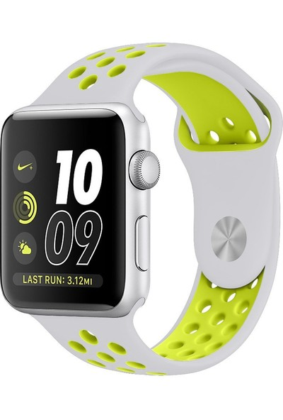 Akıllıphone Apple Watch 42Mm Nike Style Soft Silikon Kayış