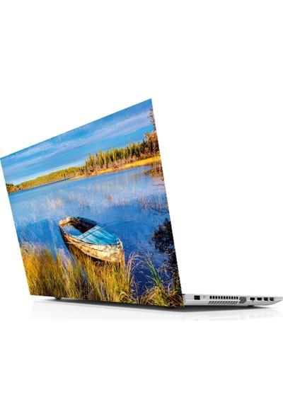Sticker Masters Blue Sky And Lake Laptop Sticker