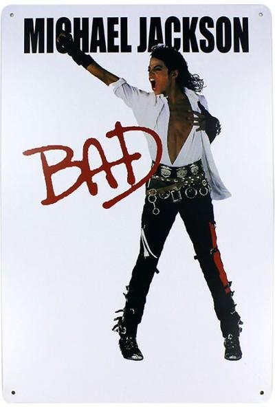 T-Bek Dekoratif Vintage Metal Pano M.Jackson Bad 20X30