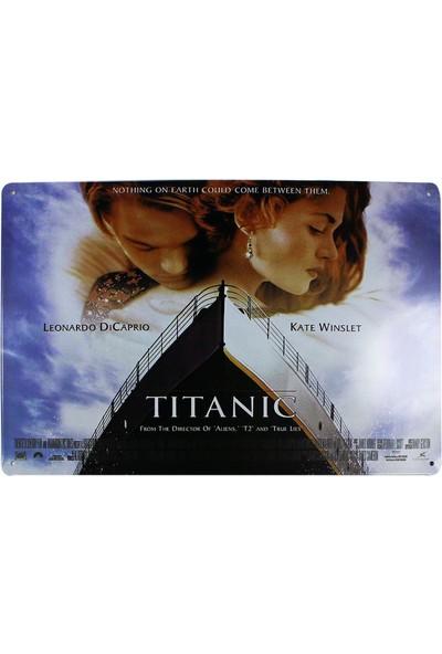 T-Bek Dekoratif Vintage Metal Pano Titanic 20X30