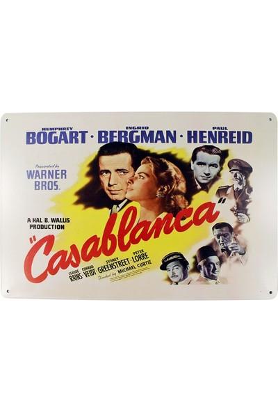 T-Bek Dekoratif Vintage Metal Pano Casablanca 20X30
