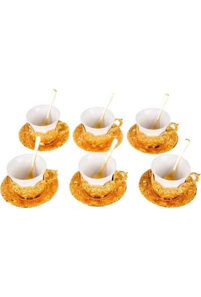 Biev 6 Kişilik Kahve Fincan Seti 10.5*10.5*7cm