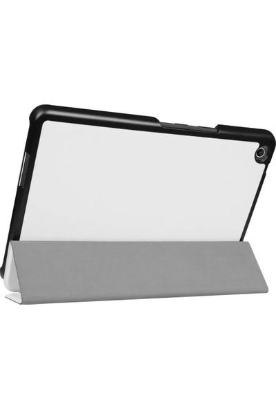 Akıllıphone Asus Zenpad 3 8.0 Zt581 Gizli Mıknatıslı Standlı Ultra İnce Deri Kılıf