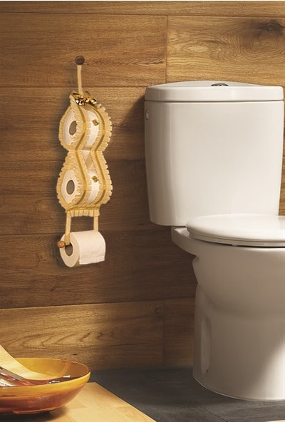 Dekohouse Dekoratif Tuvalet Kağıtlığı