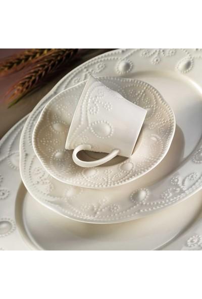Kütahya Porselen Mitterteich Fulya Krem Porselen 24 Parça 6 Kişilik Yemek Takımı