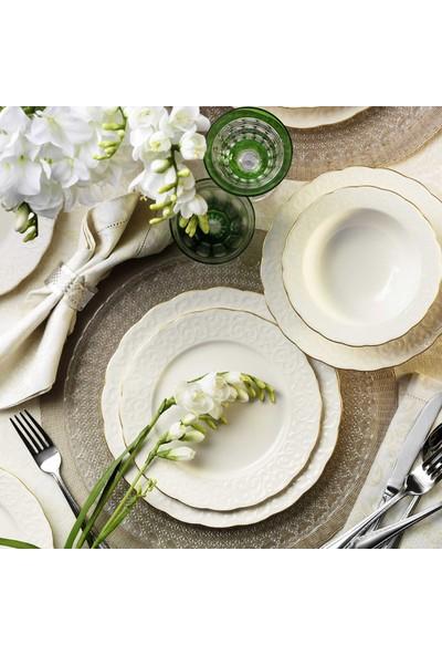 Kütahya Porselen Bone İrem 24 Parça Fileli Yemek Takımı