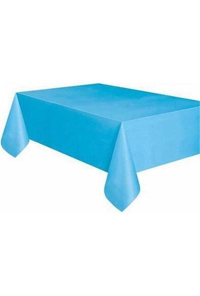 Partypark Plastik Masa Örtüsü Mavi