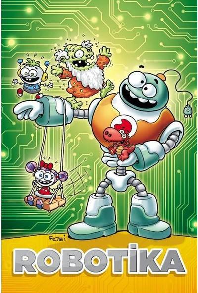 """Penguen: Feyzi Özşahin Tasarımlı """"Robotika"""" Defter Küçük Boy (Çizgisiz)"""