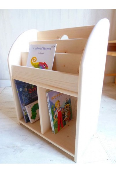 Nitelik Tamara Ahşap Montessori Kitaplık Raf