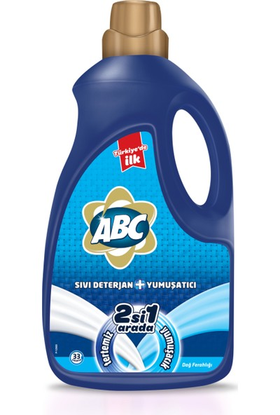 ABC Sıvı Deterjan 2 si 1 Arada Dağ Ferahlığı 2228 ml