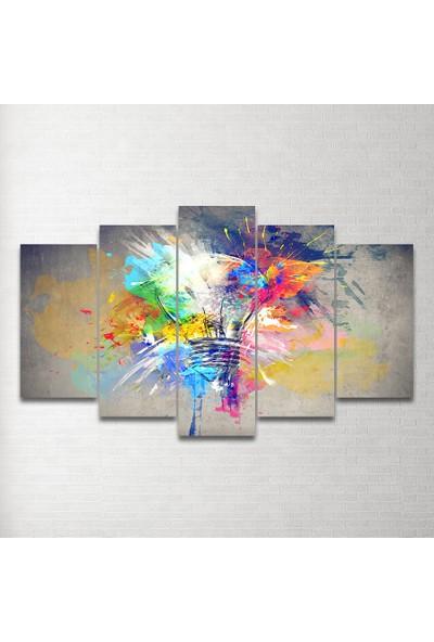 Plustablo Dekoratif 5 Parça Mdf Tablo 100X60 Cm