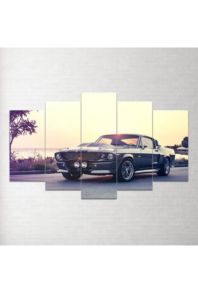 Plustablo Ford Mustang 5 Parça Mdf Tablo 100X60 Cm
