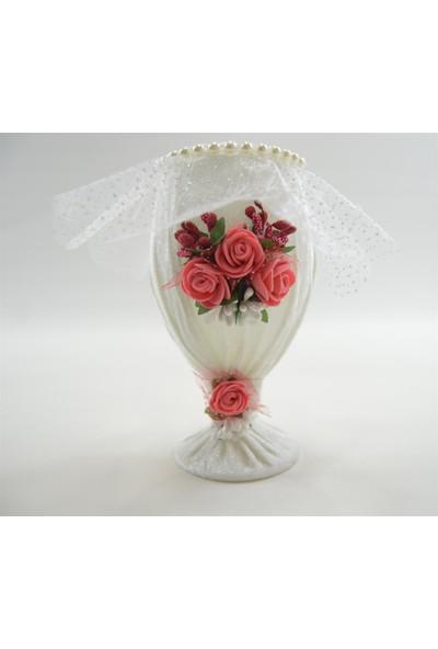 Çeyizci Düğün Nişan Söz İçin Tüllü Çiçekli İğnedanlık