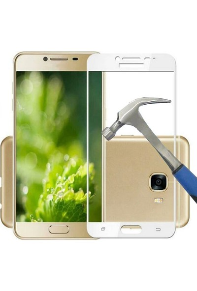 Teleplus Samsung Galaxy C9 Pro Full Kapatan Cam Ekran Koruyucu Cam Ekran Koruyucu