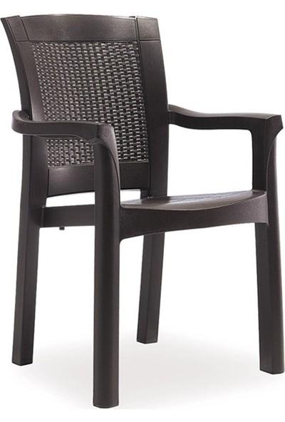 Novussi Rattan Camlı Takım 6 Sandalye 90*150