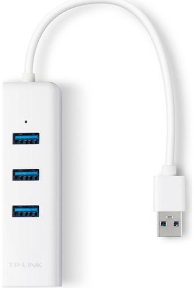TP-Link UE330USB 3.0 3-Port Hub ve Gigabit Ethernet Adaptör İkisi bir arada USB Adaptör